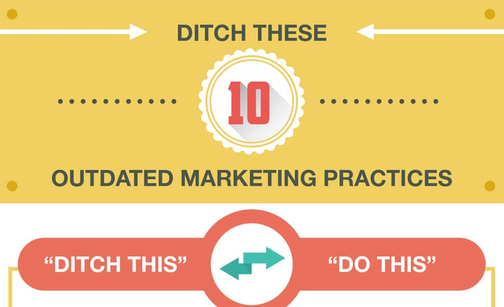 Ditch These 10 Outdated Marketing Practices Infographic