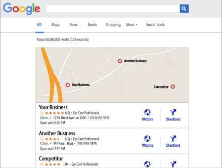 your business found by search engine