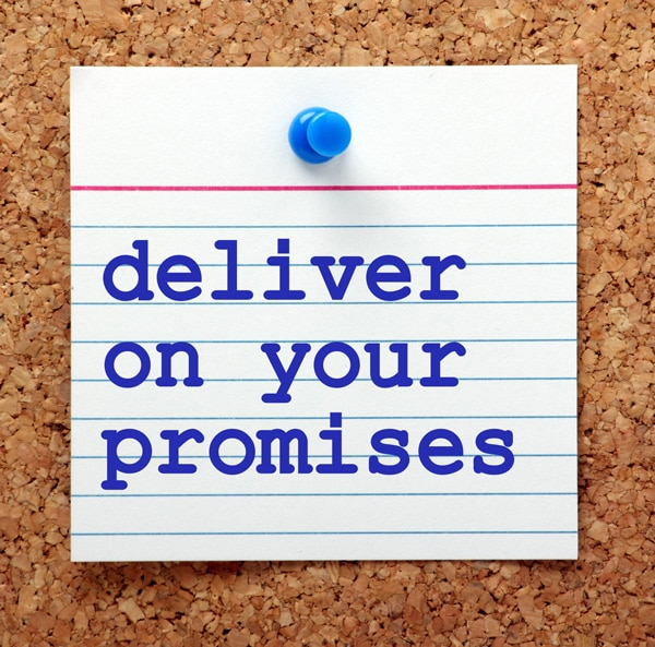 memo deliver on your promises