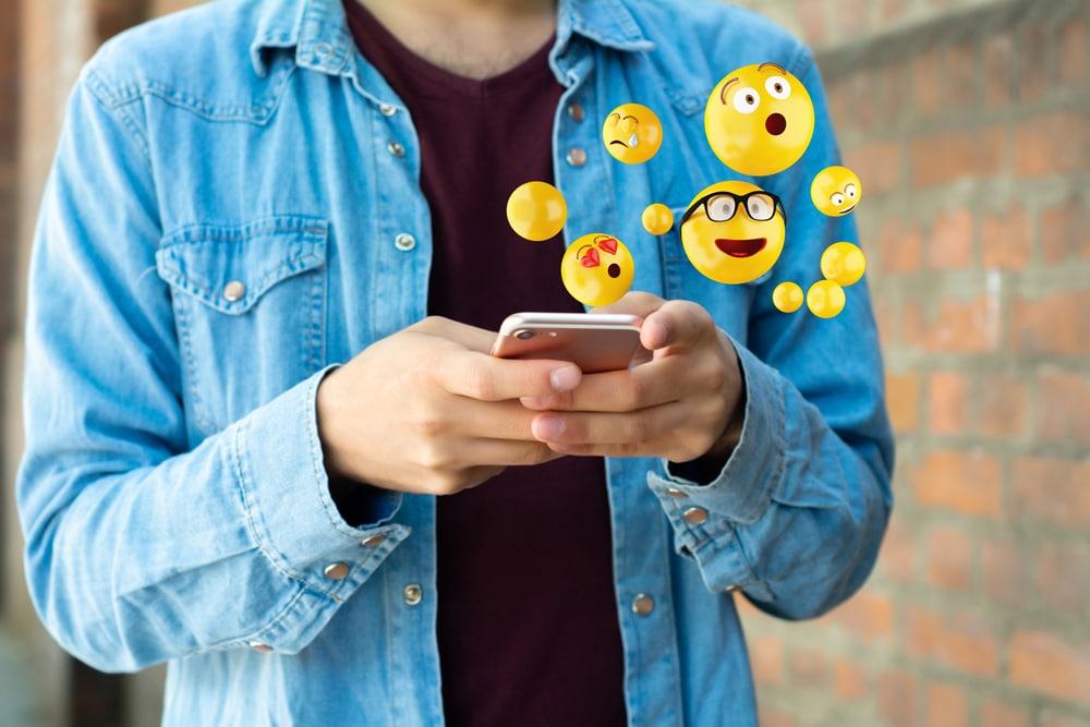 Man with Emojis