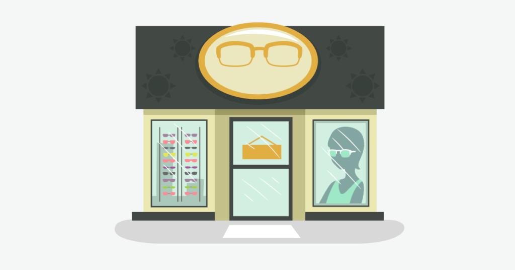 Optical shop front