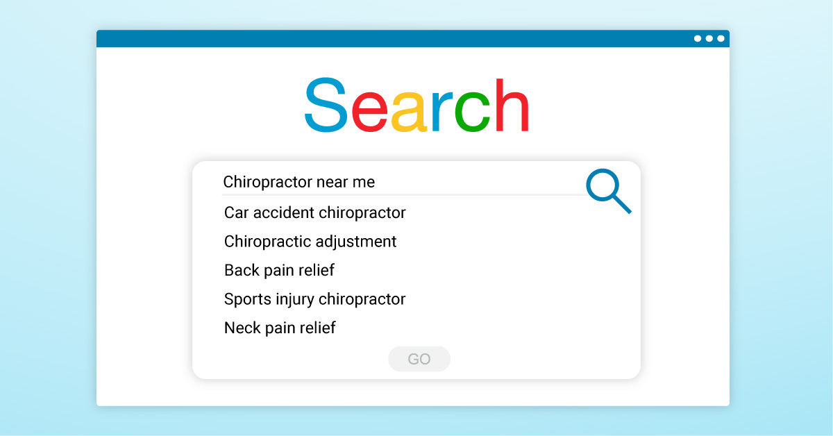 Chiropractor search query