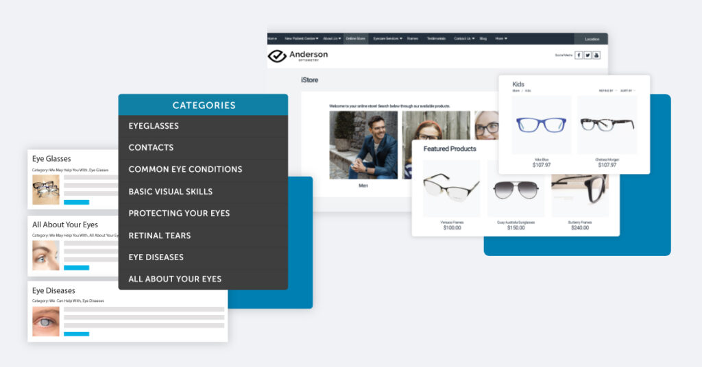 Optometry categories to add to your website (services)
