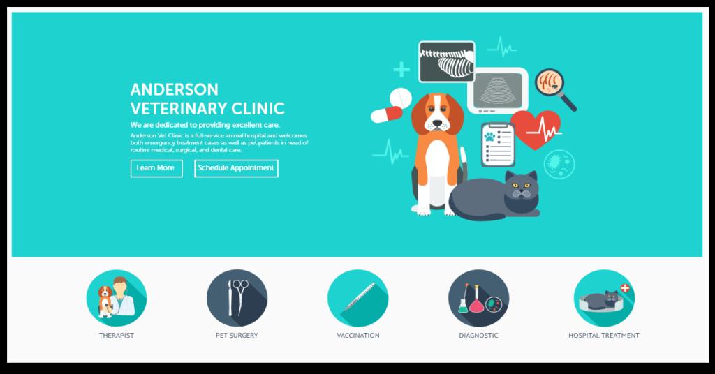 Veterinary Website Layout