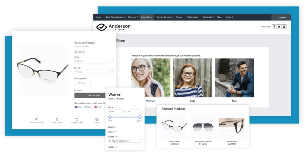 Optical online store