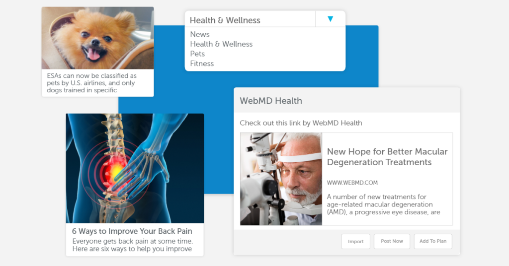 Post examples on various social media platforms.