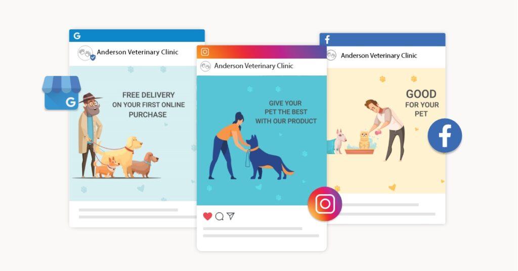 veterinary social media posts