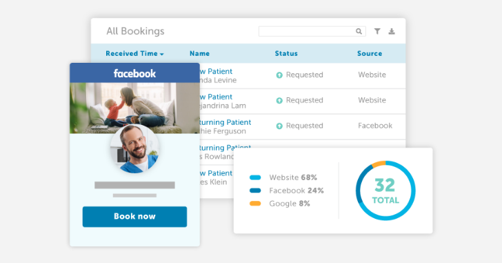 Online booking example showing booking dashboard.