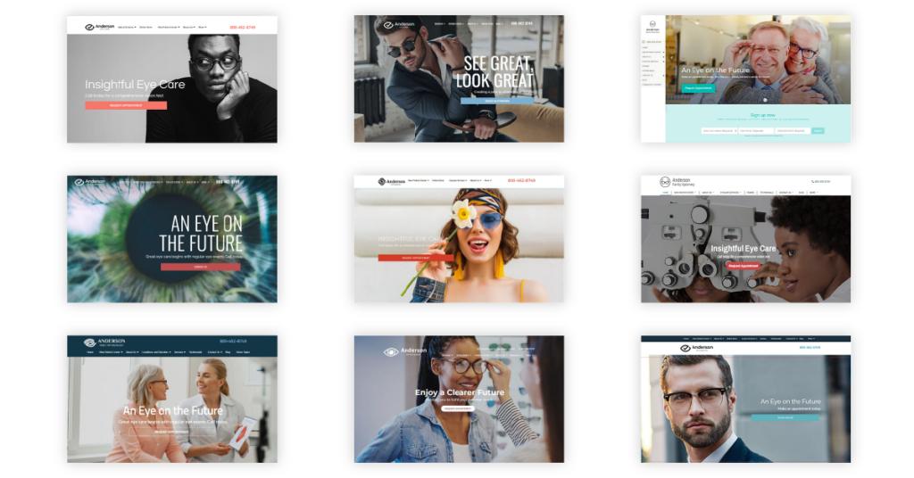 optometry website designs