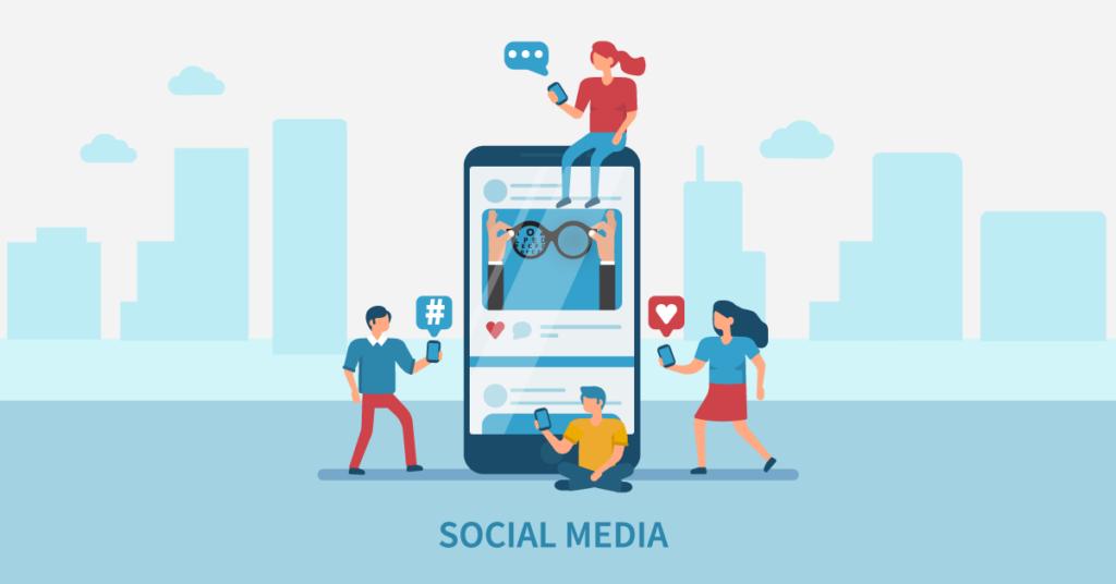 Use social media as a optometry marketing strategy