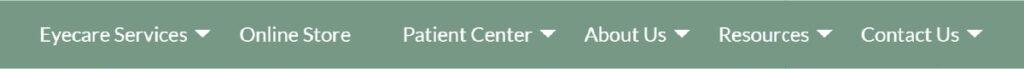 Optometry Website's Tabs