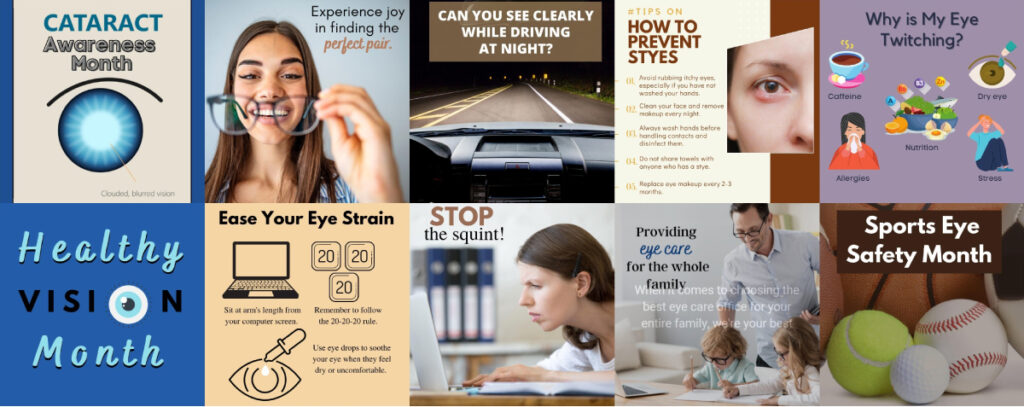 optometry social media marketing
