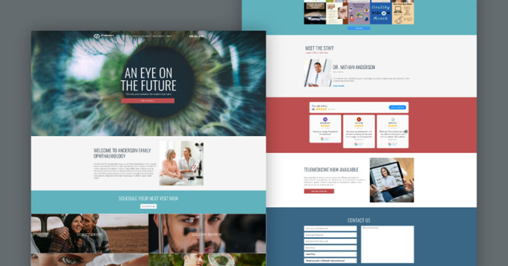 best ophthalmology website designs for doctors