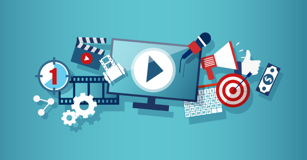 A concept of video marketing.