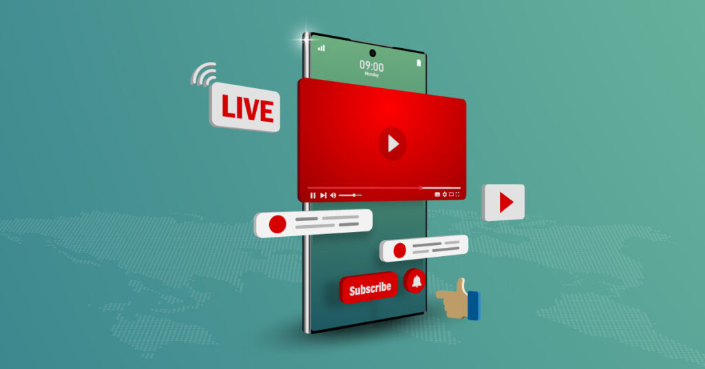 Sharing video on YouTube from mobile device.