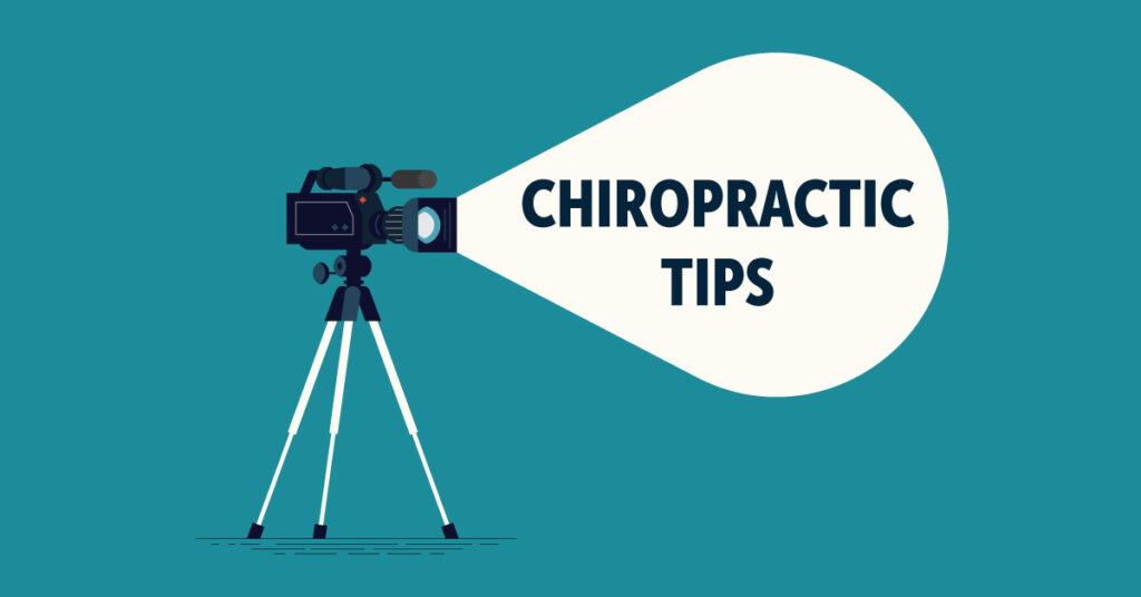 A camera highlighting chiropractic tips.