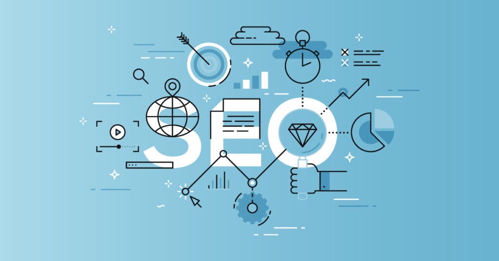 Illustration of the SEO concept.